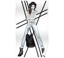 Fashion Illustration - Rock Chick Poster