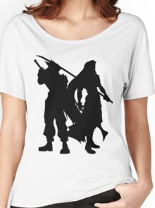 Cloud & Sephiroth Silhouettes Women's Relaxed Fit T-Shirt