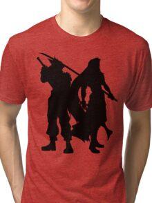 Cloud & Sephiroth Silhouettes Tri-blend T-Shirt