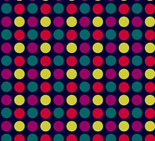 Multi Coloured Small Polka Dots by giraffoarts