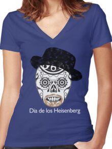 Dia de los Heisenberg Women's Fitted V-Neck T-Shirt