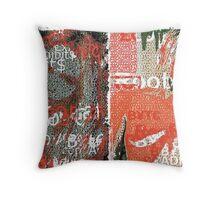 Incarnata Diptych #18 Throw Pillow