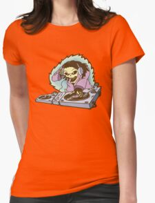 Skeleton DJ Womens Fitted T-Shirt
