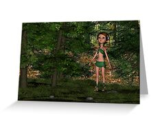 Forest Elf Girl Greeting Card