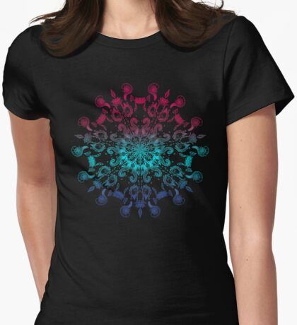 Symmetry Tattoo adult coloring theme Womens Fitted T-Shirt