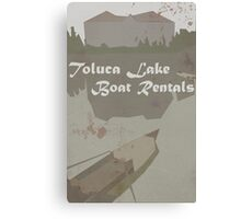 Toluca Lake Boat Rentals Canvas Print
