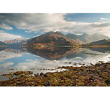 Five Sisters of Kintail in early November. Loch Duich. North West Highlands. Scotland. Photographic Print