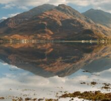 Five Sisters of Kintail in early November. Loch Duich. North West Highlands. Scotland. Sticker