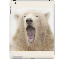 ....the run away sign for the Polar bear..... iPad Case/Skin