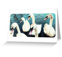 Celestial Swans  Greeting Card