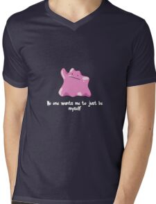 Ditto (Pokemon) Mens V-Neck T-Shirt