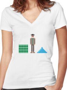 Breaking pixel Women's Fitted V-Neck T-Shirt