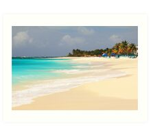 Shoal Bay Beach Anguilla Art Print
