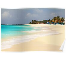 Shoal Bay Beach Anguilla Poster