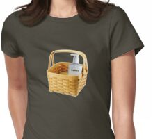 Where does the lotion go? Womens Fitted T-Shirt