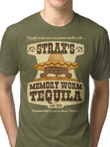 Strax's Memory Worm Tequila Tri-blend T-Shirt