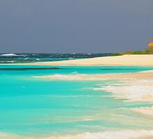 Turquoise Sea and Island Beach by Roupen  Baker