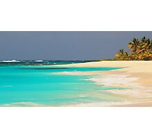 Turquoise Sea and Island Beach Photographic Print