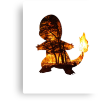 Charmander Silhouette Canvas Print