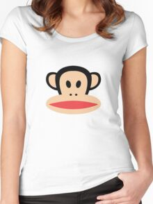 Monkey face logo Women's Fitted Scoop T-Shirt