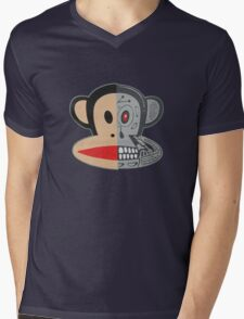 Alien Monkey face logo Mens V-Neck T-Shirt