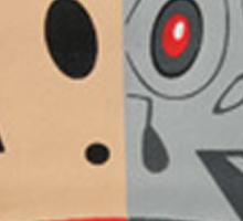 Alien Monkey face logo Sticker