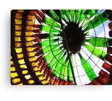 Light & Glass 1 - beer and wine bottle sculpture. Image Canvas Print