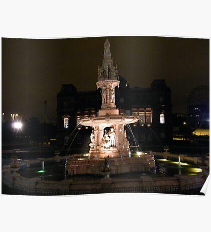 The Doulton Fountain, Glasgow Poster