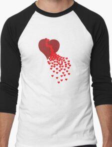 Broken Heart Men's Baseball ¾ T-Shirt