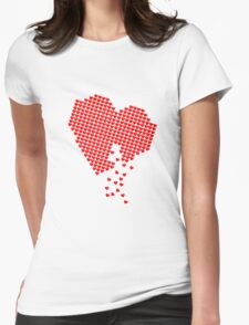 Heart of Hearts Womens Fitted T-Shirt