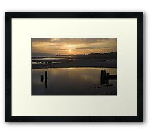 Broughty Ferry Sunset Framed Print