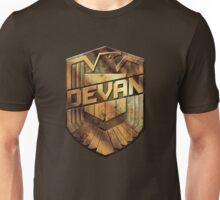Custom Dredd Badge - (Devan) Unisex T-Shirt