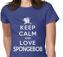 Keep Calm and Love Spongebob (dark colors) Womens Fitted T-Shirt