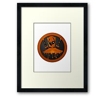 Orange Ninja Framed Print