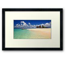 Sandy Island, Anguilla Framed Print