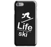 Ski v Life - White Graphic iPhone Case/Skin