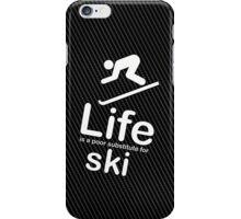 Ski v Life - Carbon Fibre Finish iPhone Case/Skin