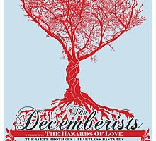 The Decemberists - Concert Poster by HAZZAH