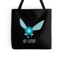 Navi Hey Listen!! (Zelda) Tote Bag