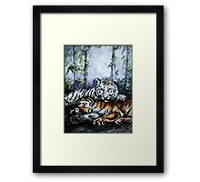 Tigers! Mother and Child Framed Print