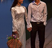 Vietnam. Hanoi. Hoan Kiem Lake. Bride and Groom. by vadim19