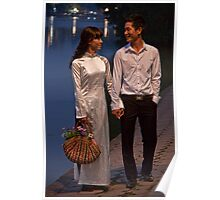 Vietnam. Hanoi. Hoan Kiem Lake. Bride and Groom. Poster