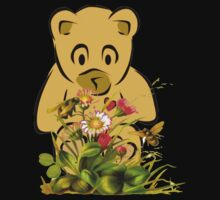 Teddy,Flowers and Bees...Tee Baby Tee