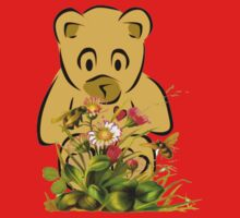 Teddy,Flowers and Bees...Tee Kids Tee