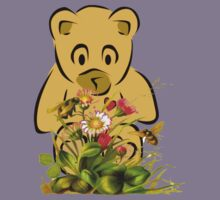 Teddy,Flowers and Bees...Tee Kids Clothes