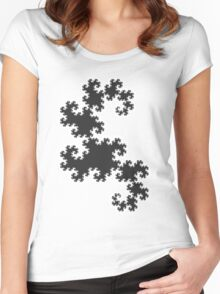 Dragons curve fractal Women's Fitted Scoop T-Shirt