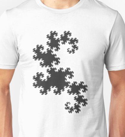 Dragons curve fractal Unisex T-Shirt