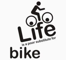 Bike v Life - White Kids Clothes