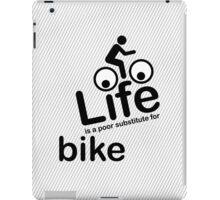 Bike v Life - White iPad Case/Skin