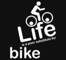 Bike v Life - Black One Piece - Short Sleeve